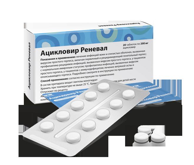 Фармакологические свойства Ацикловир 200 мг